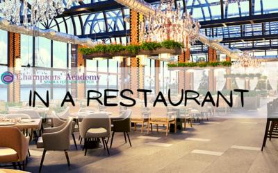 In a restaurant, useful expressions – Zwroty przydatne w restauracji